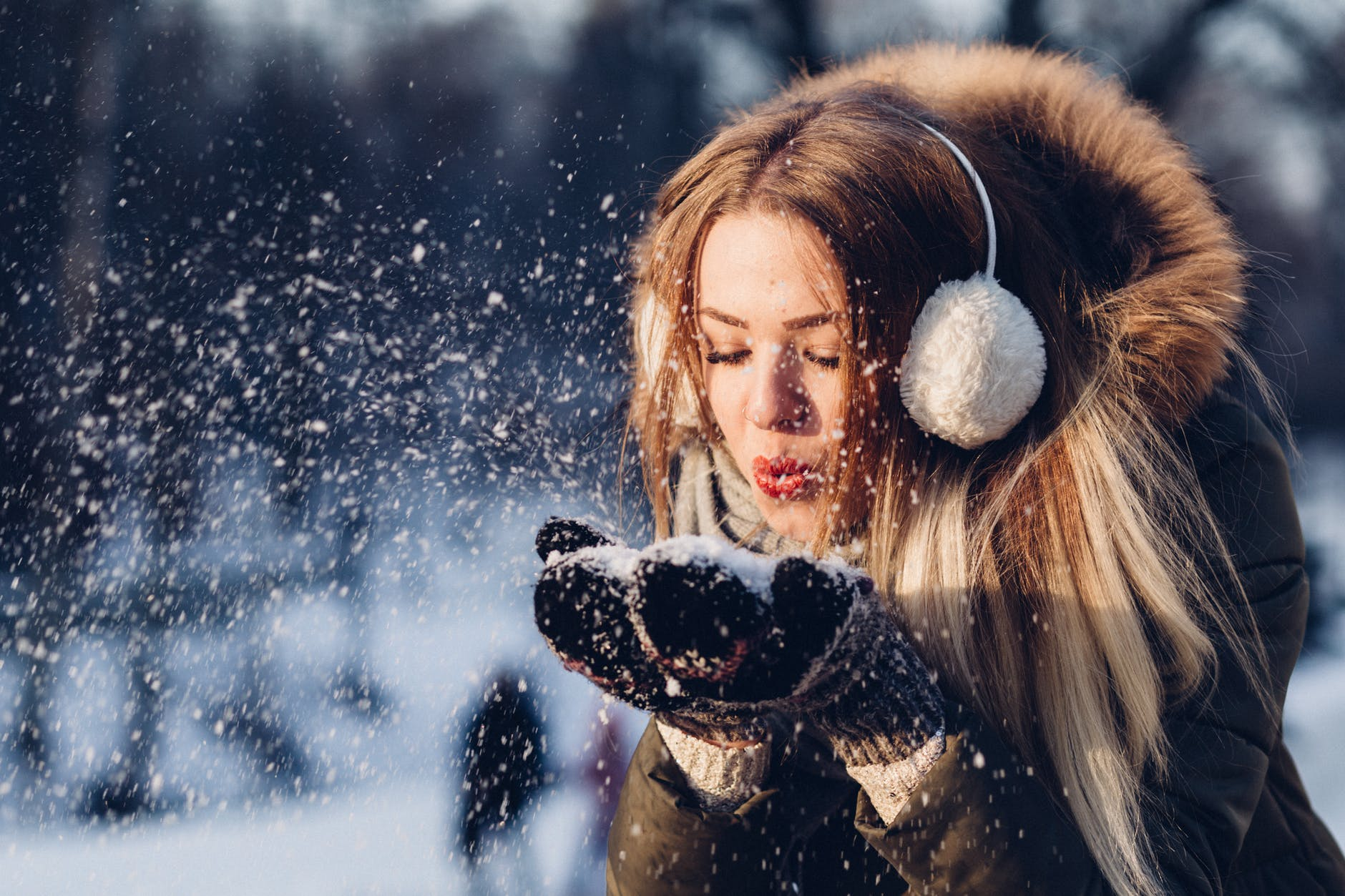 adult beautiful christmas cold